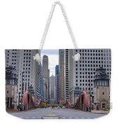 0525 Lasalle Street Bridge Chicago Weekender Tote Bag