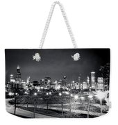 0647 Chicago Black And White Weekender Tote Bag