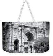 0791 The Arch Of Septimius Severus Black And White Weekender Tote Bag