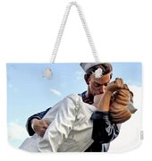 Closeup Nurse And Sailor Kissing Statue Unconditional Surrender Weekender Tote Bag