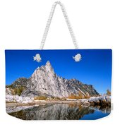 Prusik Peak Reflects In Gnome Tarn Weekender Tote Bag