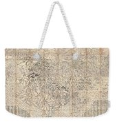 1710 First Japanese Buddhist Map Of The World Showing Europe America And Africa Weekender Tote Bag