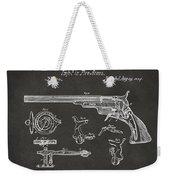 1839 Colt Fire Arm Patent Artwork - Gray Weekender Tote Bag