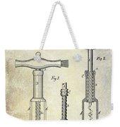 1876 Corkscrew Patent Drawing Weekender Tote Bag