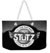 1925 Stutz Series 695h Speedway Six Torpedo Tail Speedster Emblem Weekender Tote Bag