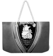 1930 Chrysler Plymouth Emblem Weekender Tote Bag