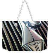 1937 Hudson Terraplane Sedan Hood Ornament Weekender Tote Bag