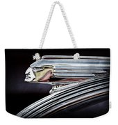 1939 Pontiac Silver Streak Chief Hood Ornament Weekender Tote Bag