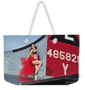 1940s Style Pin-up Girl Standing Weekender Tote Bag