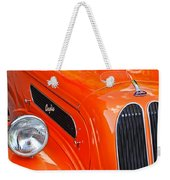 1948 Anglia 2-door Sedan Grille Emblem Weekender Tote Bag