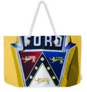 1950 Ford Custom Deluxe Station Wagon Emblem Weekender Tote Bag by Jill Reger