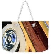 1950 Ford Custom Deluxe Woodie Station Wagon Wheel Weekender Tote Bag by Jill Reger