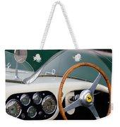 1953 Ferrari 340 Mm Lemans  Spyder Steering Wheel Emblem Weekender Tote Bag