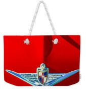 1954 Lincoln Capri Hood Ornament Weekender Tote Bag