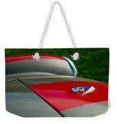 1955 Fiat 8v Zagato Hood Emblem Weekender Tote Bag