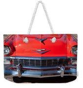 1956 Chevrolet Belair Convertible Custom V8 Weekender Tote Bag