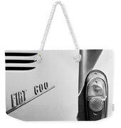 1956 Fiat 600 Taillight Emblem Weekender Tote Bag