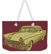 1956 Ford Custom Line Antique Car Pop Art Weekender Tote Bag