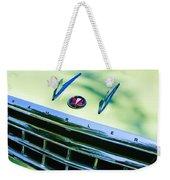 1956 Hudson Rambler Station Wagon Grille Emblem - Hood Ornament Weekender Tote Bag