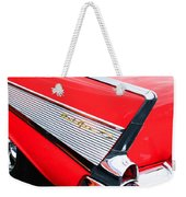 1957 Chevrolet Belair Convertible Taillight Emblem Weekender Tote Bag
