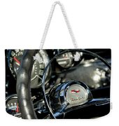 1957 Chevrolet Belair Steering Wheel Weekender Tote Bag