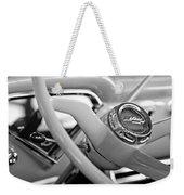 1957 Chevrolet Cameo Pickup Truck Steering Wheel Emblem Weekender Tote Bag