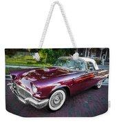 1957 Ford Thunderbird Convertible Painted    Weekender Tote Bag