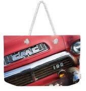 1957 Gmc V8 Pickup Truck Grille Emblem Weekender Tote Bag
