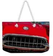 1958 Chevrolet Corvette Grille Weekender Tote Bag