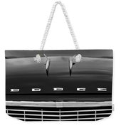 1958 Dodge Coronet Super D-500 Convertible Hood Ornament Weekender Tote Bag by Jill Reger