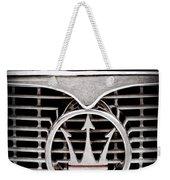 1958 Maserati Hood - Grille Emblem Weekender Tote Bag