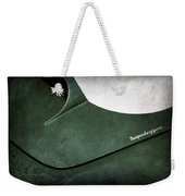 1959 Aston Martin Db4 Gt Hood Emblem Superleggera Weekender Tote Bag