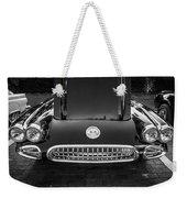 1959 Chevy Corvette Convertible Bw  Weekender Tote Bag