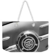 1960 Fiat 600 Jolly Emblem Weekender Tote Bag by Jill Reger