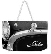 1960 Ford Galaxie Starliner Hood Ornament - Emblem Weekender Tote Bag by Jill Reger