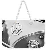 1960 Volkswagen Vw 23 Window Microbus Emblem Weekender Tote Bag by Jill Reger
