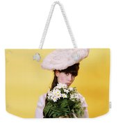 1960s Glamour Woman In White Turn Weekender Tote Bag