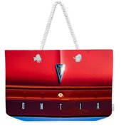 1961 Pontiac Catalina Emblem Weekender Tote Bag