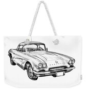 1962 Chevrolet Corvette Illustration Weekender Tote Bag