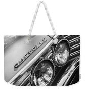 1967 Chevrolet Chevelle Malibu Head Light Emblem Weekender Tote Bag