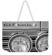 1967 Chevrolet El Camino Pickup Truck Headlight Emblem Weekender Tote Bag
