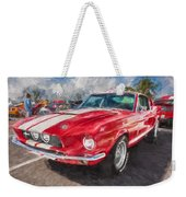 1967 Ford Shelby Mustang Gt500 Painted  Weekender Tote Bag