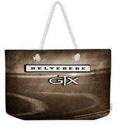 1967 Plymouth Gtx Belvedere Emblem Weekender Tote Bag