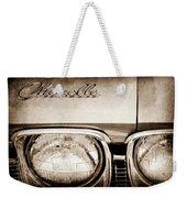 1968 Chevrolet Chevelle Hood Emblem Weekender Tote Bag