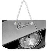1969 Chevrolet Camaro Headlight Emblem Weekender Tote Bag