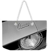 1969 Chevrolet Camaro Headlight Emblem Weekender Tote Bag by Jill Reger