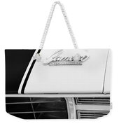 1969 Chevrolet Camaro Rs-ss Indy Pace Car Replica Hood Emblem Weekender Tote Bag by Jill Reger