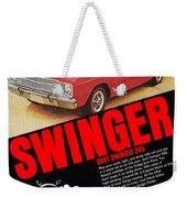 1969 Dodge Dart Swinger 340 Weekender Tote Bag