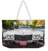 1970 Cadillac Coupe Deville Convertible Painted  Weekender Tote Bag