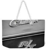 1970 Dodge Challenger Rt Convertible Emblem Weekender Tote Bag